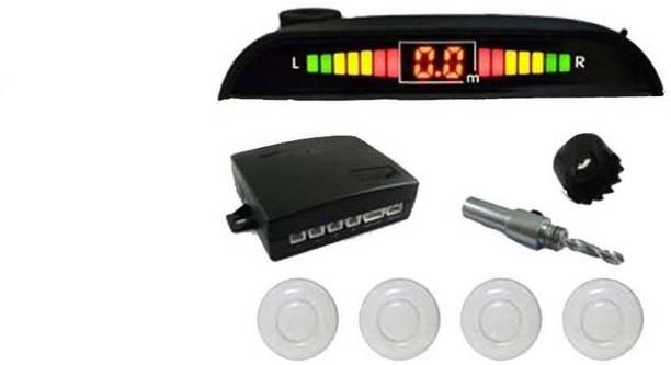 Celix PARKSENS2c14 Car Reverse Parking Sensor with LED Display 200-30cm Range- Silver Parking Sensor