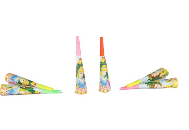 FUNCART Three Princess Theme Horns Party Blowouts