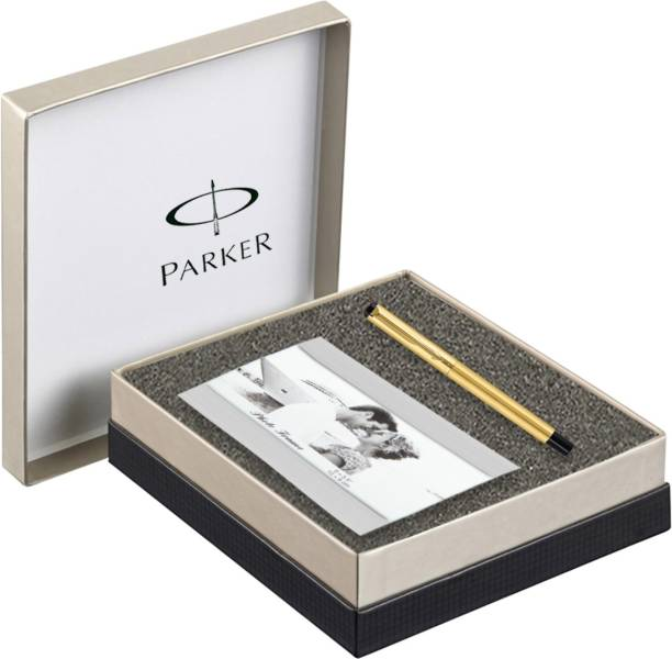 PARKER Vector Gold Roller Ball Pen + Photo Frame Pen Gift Set