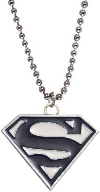 Men Style Superman Inspired Alloy Pendant Set