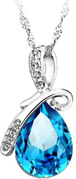 cbd1e4e25 RM Jewellers 92.5 Amazing Stylish Platinum Cubic Zirconia, Topaz Silver  Pendant
