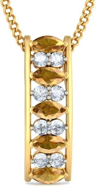 Bluestone pendants lockets buy bluestone pendants lockets online bluestone the charmed brilliance 18kt diamond sapphire yellow gold pendant aloadofball Choice Image