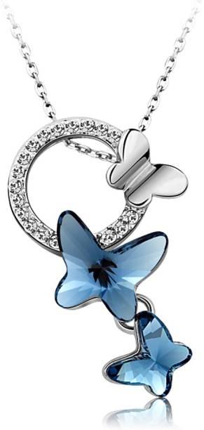 Pendants lockets buy pendants lockets online at best prices in yellow chimes ycswpd 008615 bl rhodium swarovski crystal brass pendant aloadofball Choice Image