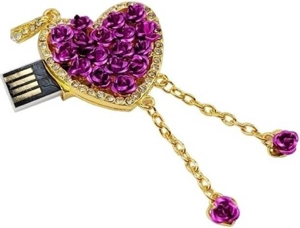 Microware Heart Shape 16 GB Pen Drive