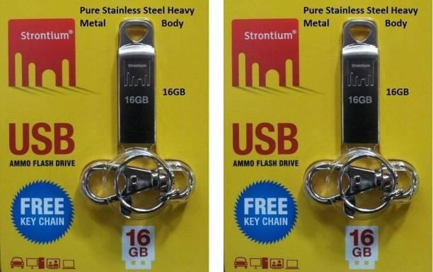 Strontium Ammo (Pack of 2) 16 GB Pen Drive