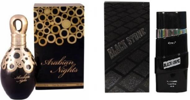 RAMCO Arabian Nights and Black Stone Combo Perfume Eau de Parfum  -  200 ml