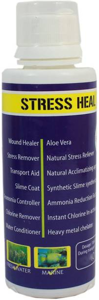 AQUATIC REMEDIES STRESS HEAL 50ml for Fresh & Marine aquarium 0.05 l Wet Young Fish Food