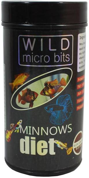AQUATIC REMEDIES Wild Micro Bits Minnows Diet 0.1 kg Dry Young Fish Food