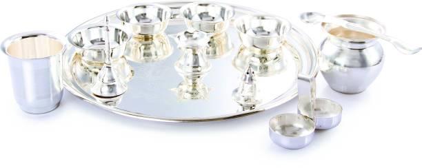 Ojas New Laxmi Pooja Set Silver Plated