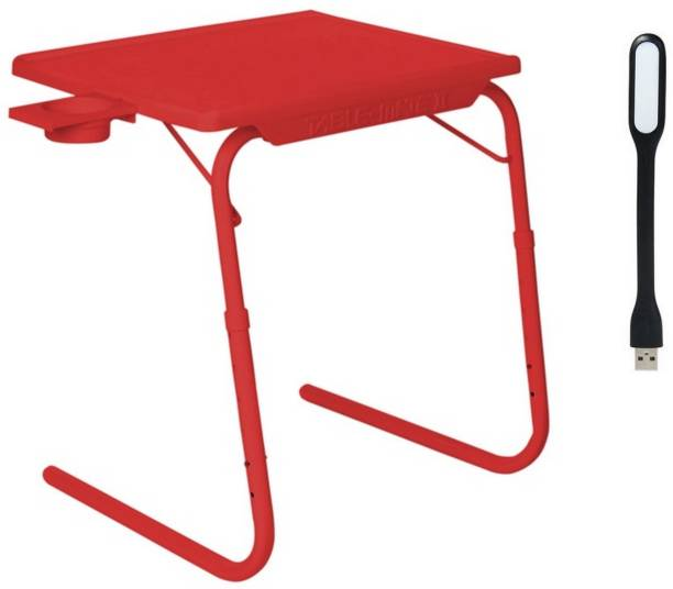 NA Red Plastic Portable Laptop Table