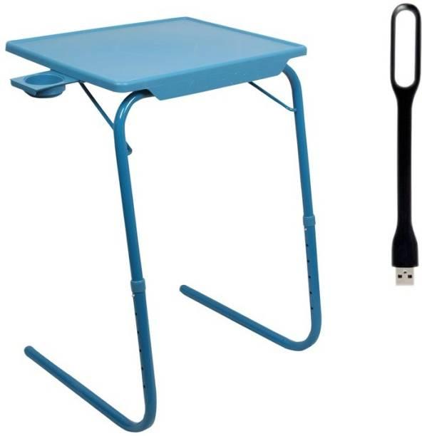 NA Blue Plastic Portable Laptop Table