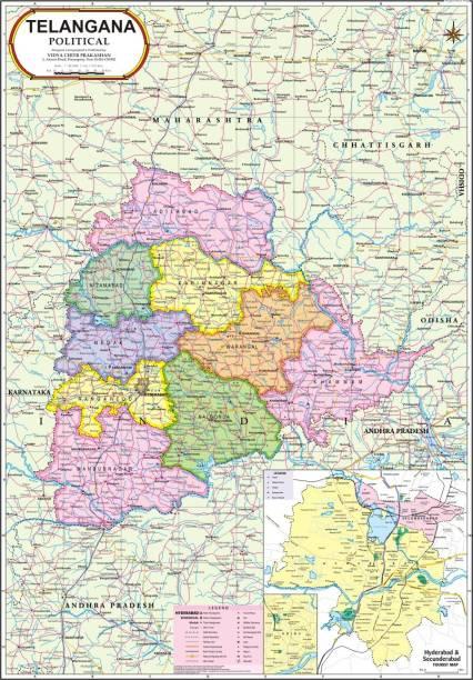 Telangana Map In Telugu