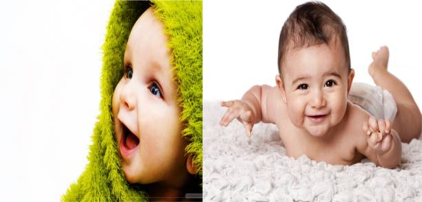 Cute Baby Poster  Pcs Combo Smiling New Born Kid Infant Child Wall Decor Photographic