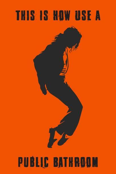 Michael Jackson Funny Poster Paper Print