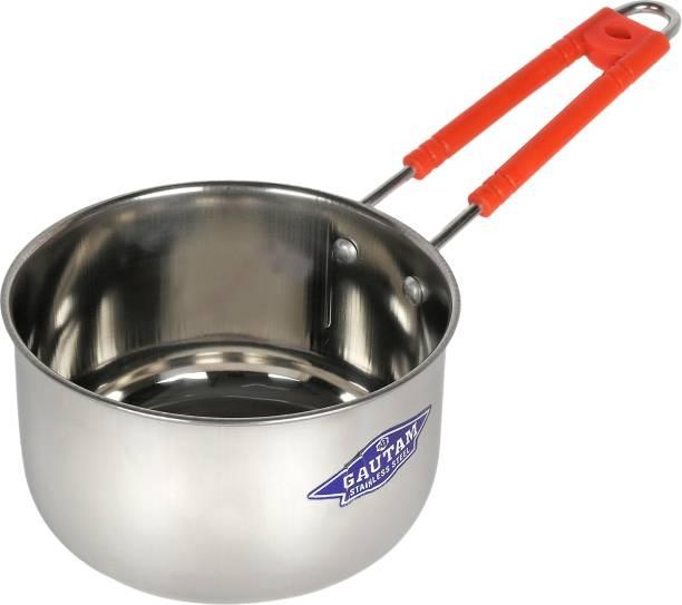 SHREE GAUTAM Sturdy Handle Sauce Pan 14 cm diameter 1.2 L capacity