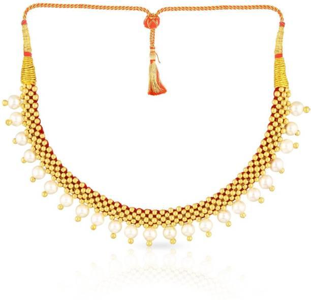 Malabar Gold and Diamonds NNKTH008 Collar Yellow Gold Precious Necklace 4011ad610