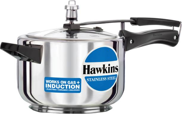 HAWKINS Stainless Steel HSS40 4 L Induction Bottom Pressure Cooker