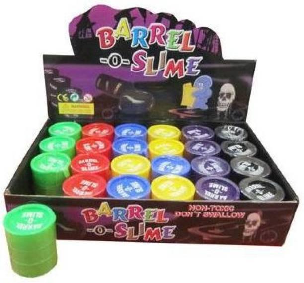 "Gooddeals Barrel o Slime 2"" Joke Gag Prank Gift set of 12 Gold, Silver"