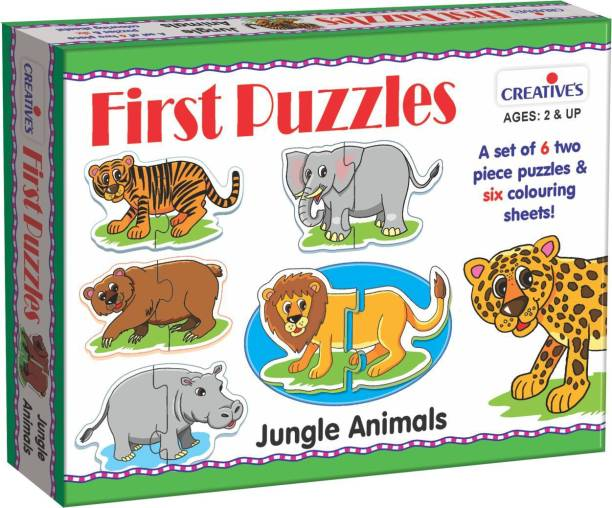 Creatives First Puzzles-Jungle Animals