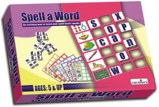 Creative Educational Aids Spell a Word Word Games Board Game