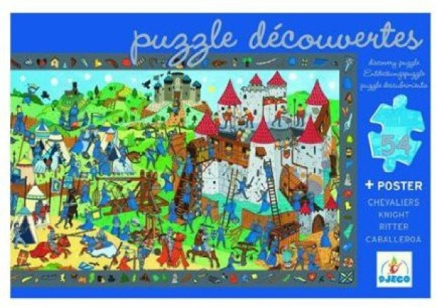 200 Pieces Djeco The Assault Observation Jigsaw Puzzle