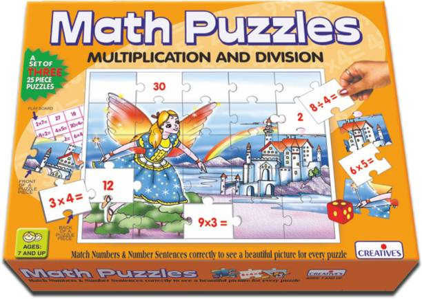 Creative Educational Aids Math Puzzles - Multiplication and Division