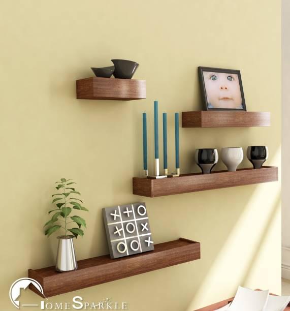 HOME SPARKLE Set of 4 Wall Nesting MDF (Medium Density Fiber) Wall Shelf