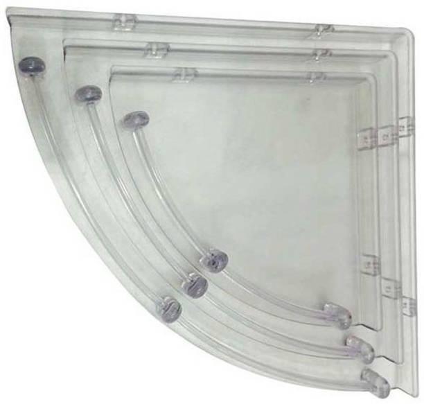 Aquafit Aquasoft prime series Acrylic corner shelves-set of 3 Acrylic Wall Shelf