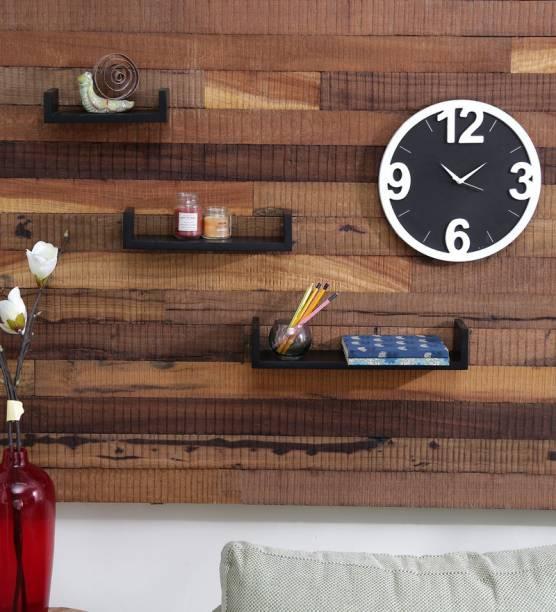 Onlineshoppee U Shape Wooden Wall Shelf