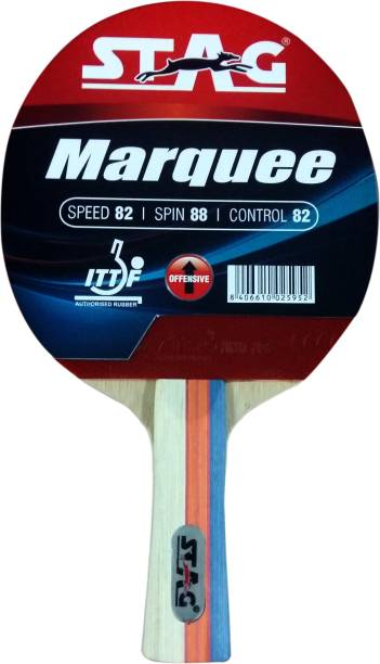 STAG Marquee Table Tennis Racquet Red, Black Table Tennis Racquet