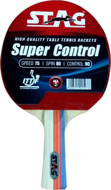 STAG Super Control Red, Black Table Tennis Racquet
