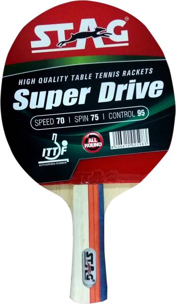 STAG Super Drive Red, Black Table Tennis Racquet