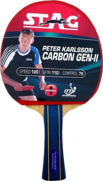 STAG Peter Karlson Carbon With Deluxe Case Red, Black Table Tennis Racquet