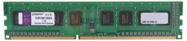 KINGSTON Value DDR3 4 GB (Single Channel) PC (KVR16N11S8/4-SP)