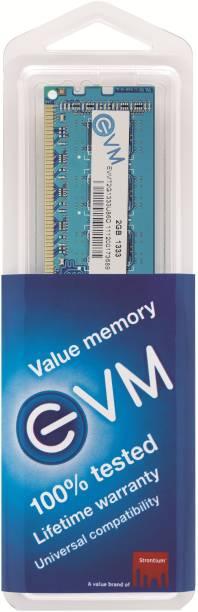 EVM DDR3 2 GB (Dual Channel) PC DRAM (EVMT2G1333U86/ EVMT2G1333U88/ EVMT2G1333U64S)
