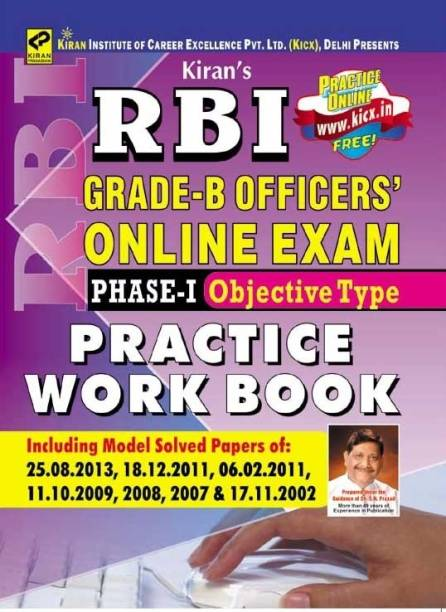 RBI Grade - B Officer's Online Exam Phase - 1 Objective Type Practice Work Book