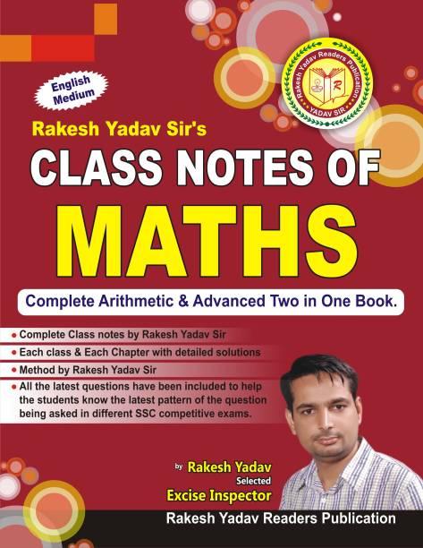 Class Notes Of Maths (English) By Rakesh Yadav Sir