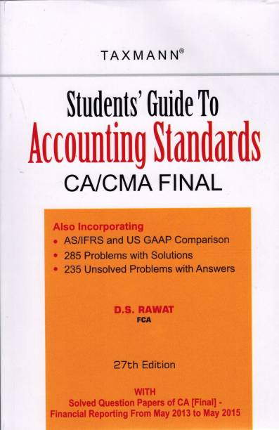 CA Final Accounting Standards By D S Rawat: 27 Edition 2015
