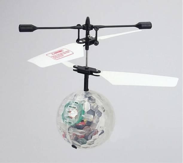 Pacific Toys Gravity Sensor Disco Flying Ball Best Gift Palm UFO Mini UAV (White)