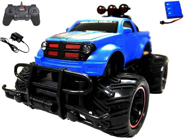MousePotato 1:16 Hummer Rock Crawler Monster Truck Racing Car Rechargeable (Blue)