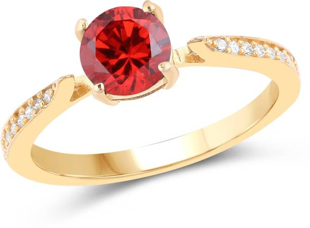 Johareez Br Cubic Zirconia Plated Ring