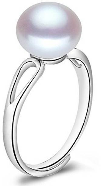 2852ec385 Akshay Gems Certified Moti 5.5 cts or 6.25 ratti Silver Pearl Ring
