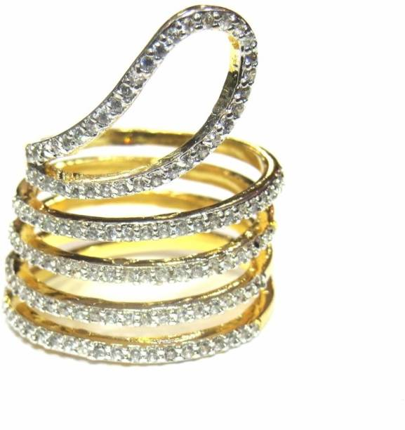 Jewelshingar Br Cubic Zirconia Gold Plated Ring