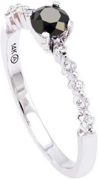 ee30eebb3e3e Kiara Jewellery Sterling Silver Swarovski Zirconia Rhodium Plated Ring
