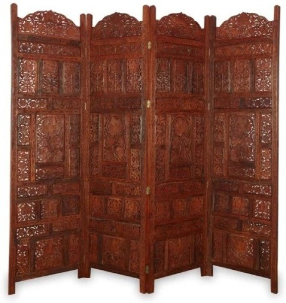 Bon Onlineshoppee Solid Wood Decorative Screen Partition