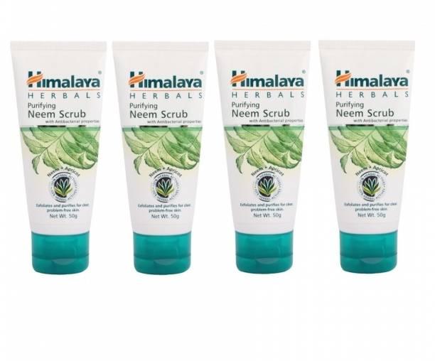 Himalaya Herbals Purifying Neem Scrub (Pack of 4) Scrub