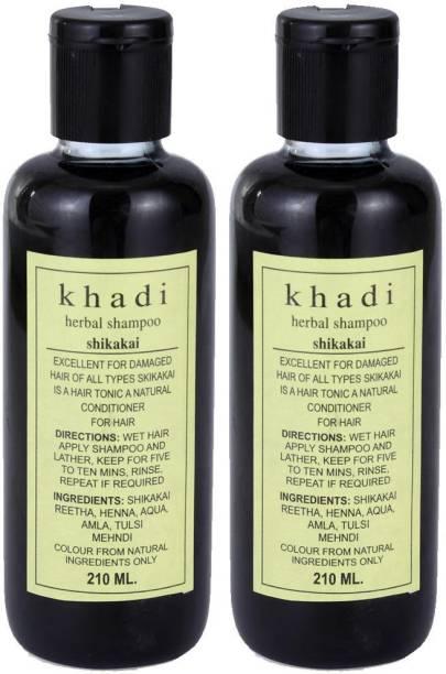 Khadi Herbal Herbal Shikakai Shampoo Pack of 2