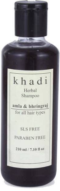 Khadi Herbal Amla & Bhringraj Shampoo (SLS, Sulfate & Paraben Free)