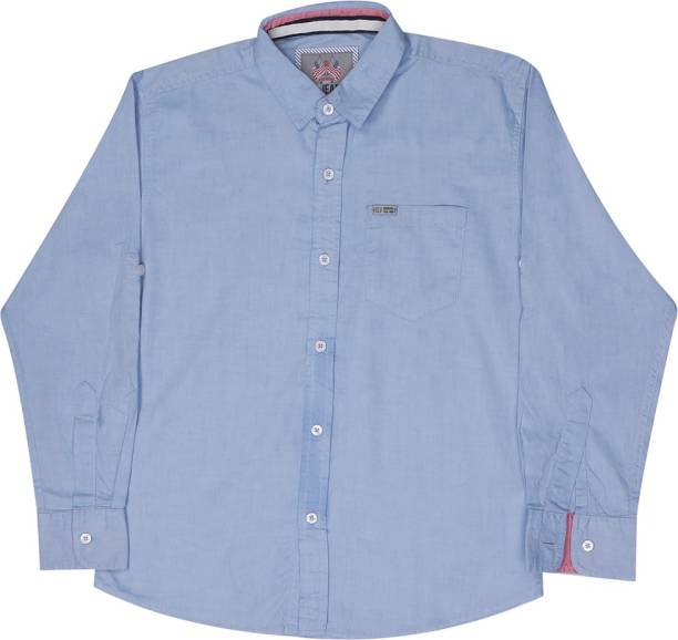 GINI & JONY Baby Boys Printed Casual Blue Shirt