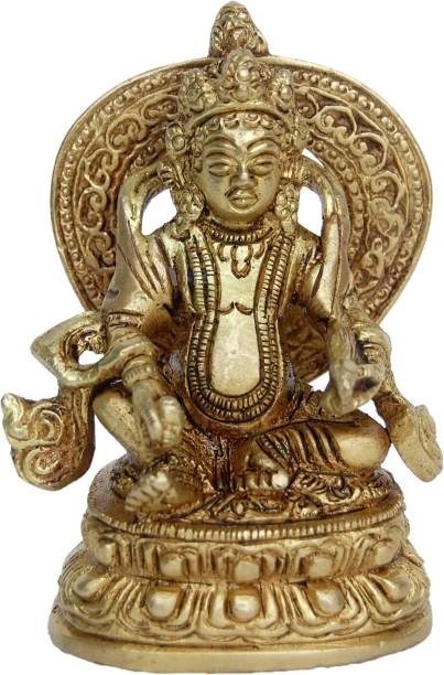 Aakrati Lord Kuber Brass Statue For Hoem Temple Decorative Showpiece